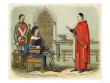 Gascoigne Refuses to Obey Henry Iv's Order to Sentence Scrope and Mowbray Giclee Print by James Doyle