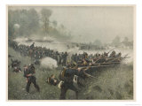 Battle of Koeniggratz Giclee Print by Carl Roechling