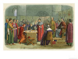 Edward I is Recognised as Overlord of Scotland Giclee Print by James Doyle