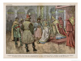 Istvan I Converts the Magyars to Christianity Giclee Print by Eugene Damblans