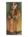 Her Farthingale May be the Height of Fashion Giclee Print by Dion Clayton Calthrop
