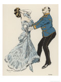 Couple Dance the Csardas Giclee Print by Ferdinand Von Reznicek