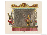 Punch and Scaramouche Giclee Print by George Cruikshank