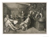 Brave English Salvationist Preaches to the Clientele of a Swiss Tavern Giclee Print by G. Cederstroem