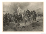 Battle of Ramillies the Allies Under Marlborough and Prince Eugene Defeat the French Under Villeroy Giclee Print by Henri Dupray