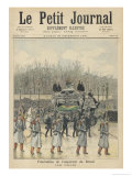 The Funeral Cortege of the Dethroned Pedro II of Brazil in Paris France Giclee Print by Henri Meyer