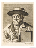 Manuel Chrysoloras Greek Scholar in Italy Giclee Print by Nicolas de Larmessin