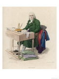 Andre-Ernest-Modeste Gretry French Composer at His Desk Giclee Print by Geille
