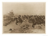 Battle of Blenheim Marlborough Defeats the French and Bavarians Giclee Print by Henri Dupray