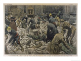 Germans Bombard Paris a German Shell Hits the Church of Saint-Gervais Paris Killing Many Giclee Print by Eugene Damblans
