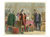 Richard III Orders the Arrest of Hastings Giclee Print by James Doyle