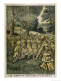 English Women Soldiers Exercise Near Rouen France Giclee Print by Eugene Damblans