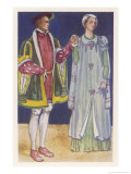 His Slashed Sleeves are Typical of the Period Giclee Print by Dion Clayton Calthrop