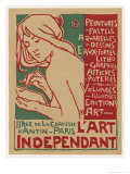 Poster for L'Art Independant Art Store Paris Gicléetryck av Emile Berchmans