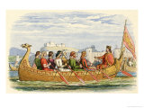 Edgar is Rowed Onn the Dee by Eight Kings to Demonstrate His Overlordship and Imperial Pretentions Giclee Print by James Doyle