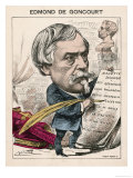 Edmond-Louis-Antoine Huot De Goncourt French Novelist: a Satirical View Giclee Print by Coll-toc