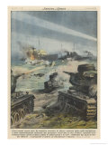 Soviet Tanks Thwart the Germans' Landing Attempt in Estonia Giclee Print by Achille Beltrame