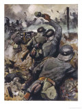German Infantry Defend Their Trench Against an Enemy Attack Giclee Print by Willy Planck