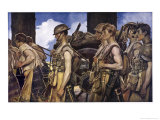Scottish Soldiers Return from Combat Giclee Print by Francois Flameng