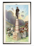 Theodore Roosevelt 26th American President: a Satirical Comment on How He Managed to Reach the Top Giclee Print by  Flohri