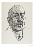 Maurice Baring British Journalist and Author Gicleetryck av Powys Evans