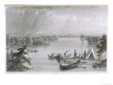 Henry Rowe Schoolcraft's Explorations of the Upper Mississippi River Giclee Print by S. Eastman
