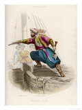 Ottoman Pirate Successor to Khayr-Ad-Din Fatally Wounded in an Unsuccessful Attack Premium Giclee Print by A. Debelle
