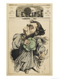 Leon Michel Gambetta French Lawyer and Statesman: Escaping with a Cabbage and a Goat! Giclee Print by André Gill