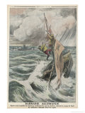 Fishermen Fired On Giclee Print by Eugene Damblans