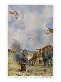 Training Flights at a French Air Base Giclee Print by Francois Flameng