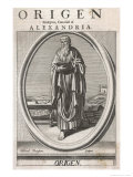 Origen of Alexandria Christian Writer and Teacher One of the Greek Fathers of the Church Giclee Print by Michael Burghers
