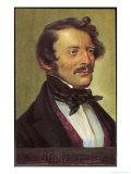 Gaetano Donizetti Italian Opera Composer Giclee Print by  Eichhorn