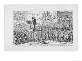 Louis-Antoine Jullien Satire on the Popularity of the French Musician and the Concerts Giclee Print by George Cruikshank