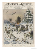 Soviet Air Attack Giclee Print by Achille Beltrame