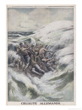 Torpedoed Crew Giclee Print by Eugene Damblans
