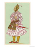 Murad Bakche Brother of the Mughal Emperor Auranzeb Alamgir I Giclee Print by Chataignon 