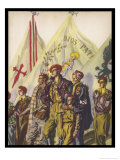 Young and Old Stand Together with Pride as Members of the Requetes the Carlist Militia Movement Giclee Print by Carlos S. De Tejada