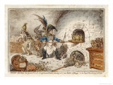 Napoleon the Gingerbread Baker Creating New Kings, a Comment Giclee Print by James Gillray