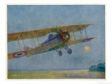French Warplane Leaves on the Dawn Patrol Giclee Print by Maurice Bourgignon