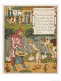 Jack was Told My His Mother to Goto Market and Sell the Cow for Bread Giclee Print by Walter Crane