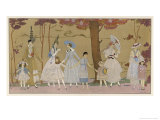 Summertime Fashions for Women and Girls by Paquin Doucet Giclee Print by Georges Barbier