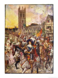 Prince Rupert and His Troops March Confidently Through Oxford Giclee Print by Henry Justice Ford