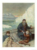 Henry Hudson is Cast Adrift Reproduction proc&#233;d&#233; gicl&#233;e par John Collier