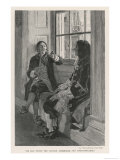Thomas Tew Seated in a Relaxed Pose and Smoking a Long Pipe Giclee Print by Aikman