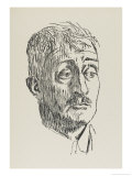 John Masefield English Poet Playwriter and Fiction Writer Gicleetryck av Powys Evans