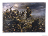 At Loos Piper Laidlaw Rouses His Colleagues Suffering the Effects of a Gas Attack Giclee Print by W.s. Bagdatopulos