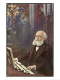 Charles Gounod French Musician and Composer Depicted Composing His Opera Faust Giclee Print by L. Balestrieri