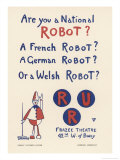 Poster for a New York Production of Capeks Play Rossums Universal Robots Giclee Print by  Fornaro