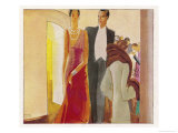 Fashionable Theatregoers out for the Evening Giclee Print by Paul Colin