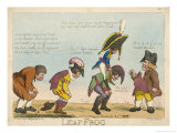Napoleon Plays Leapfrog with the Other European Nations Giclee Print by Raymond Esquire